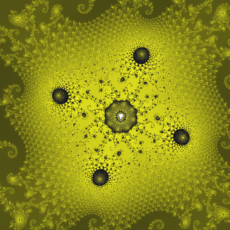 a portion of the Mandelbrot set